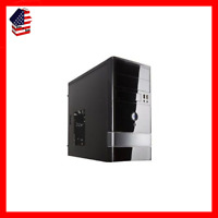Case Shell Fan ATX Mid Tower Black Desktop PC Gaming
