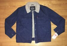 NWT Levi Denim Sherpa Zip Up Jacket Mens Large MSRP $150
