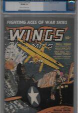 Wings Comics Number 39 CGC Graded VG/FN 5.0 Nov. 1943 War Cover Stories Nazi Jap