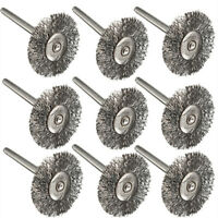 10Pcs Rotary Tools Steel Wire Wheel Brushes Cup Rust Set For Accessories