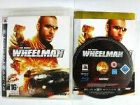 Vin Diesel Wheelman PS3 Playstation 3 MINT DISC