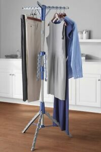 Mainstays Space-Saving 2-Tier Tripod Hanging Clothes Drying Rack, Steel