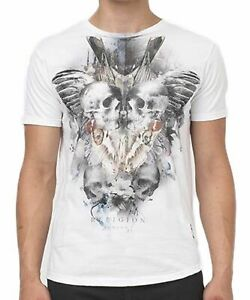 """RELIGION Clothing Herren T-Shirt Shirt """"GEMINI"""" Weiß NEU"""