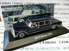 MER7E voiture 1/43 ixo altaya MERCEDES :  600 Pullman 1963 limousine