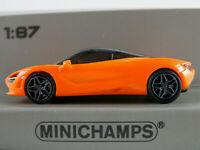 Minichamps 870 178721 McLaren 720 S (2017) in orange 1:87/H0 NEU/OVP