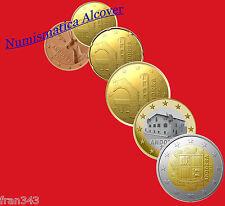 EUROS  ANDORRA ANDORRE SERIE SET 6 Monedas  2014 SC /  6 Coins UNC