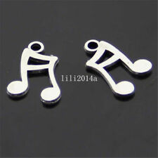 4 Tibetan Silver  Charms  music notes Jewellery Making Crafts uk stock fast