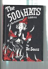 THE 500 HATS OF BARTHOLOMEW CUBBINS 1938 DR.SEUSS BLACK&RED HARDCOVER