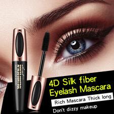 4D Silk Fiber Eyelash Mascara Extension Makeup Black Waterproof Kit Eye Lashes