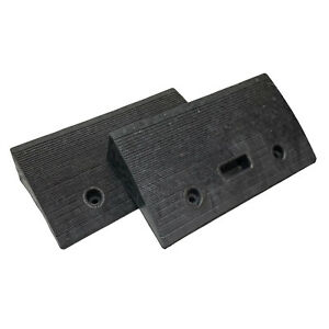 """Portable Lightweight Plastic Curb Ramps Heavy Duty 4"""" Rise made in USA (2 pack)"""