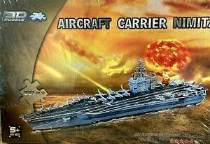 Aircraft Carrier Nimitz 3D Jigsaw Puzzle 221 Pieces New For Ages 5+