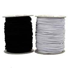 Round Cord Elastic - Black - 2mm, 3mm - Hats / Beading / Crafts / Masks