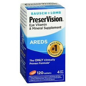 Bausch And Lomb Ocuvite Preservision Tablets 120 tabs
