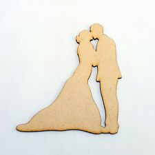 2x PACK  LARGE Wedding Bride Groom couple craft Shape Decoration MDF guestbook