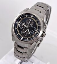 Citizen Eco-Drive Mn Super Titanium Gray Blue Chronograph Solar Watch CA0550-87L