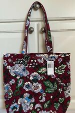 NWT Vera Bradley Iconic Tote Bag Bordeaux Blooms