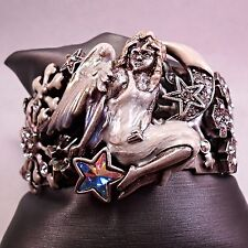 Kirks Folly Angelica Angel Snowflake Cuff Bracelet NWOT