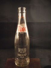 VINTAGE TING SODA POP BOTTLE ACL GLASS 1970 WAUPACA WIS USA EMPTY RED DOTS 8oz.