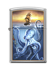 Zippo 3536, Mazzi-Sea Monster-Ship, Brushed Chrome Finish Lighter
