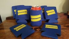 FOUR!! Vintage BLOCKBUSTER VIDEO Beer/Soda Can Koozie 1990's Retro Relic VHS NOS