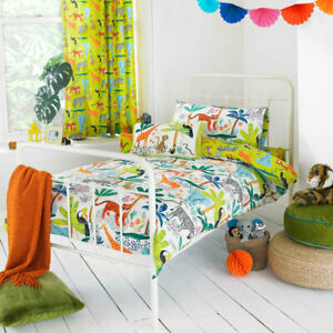 Little Big Cloud Jungletastic Print Reversible Duvet Cover Set, Multi