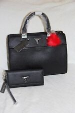 GUESS Women's  Talene Satchel matching with wallet ( black) - NWT