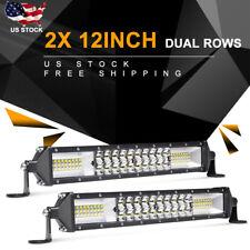 "2X 12""Inch 1088W Led Work Light Bar Flood Spot Combo Car Truck Suv Pk Tri Row 9""(Fits: Lincoln Aviator)"