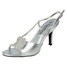 Zapatos de tacón de mujer de color principal plata sintético talla 40