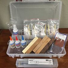 Starter Pen Turning Kit slimline Mandrel ca activator micro mesh walnut burl