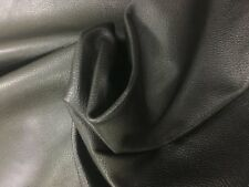 Leather Cow Hide 1 Black 1.1/1.3mm thick pliable soft 21.1 sq ft 207x118 cms