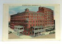 Binghamton New York Arlington Hotel Vintage Postcard