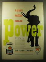 1949 Texaco Havoline Motor Oil Ad - A clean engine means power