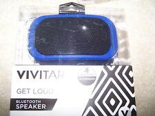 Vivitar Get Loud Bluetooth Speaker Waterproof BLUE, ANDROID iPHONE (RECHARGEABLE