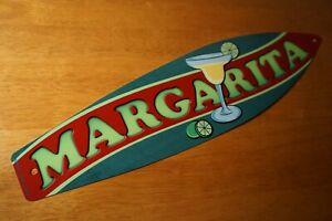 MARGARITAS SURFBOARD SIGN Tropical Drinks Cantina Beach Tiki Bar Home Decor NEW