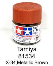 "Tamiya 81534 X-34 Metallic Brown 1/3 oz Acrylic ""Mini"" Paint Bottle"