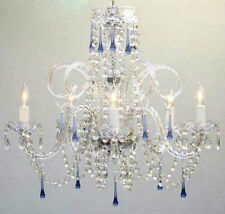 BLUE CRYSTAL CHANDELIER CHANDELIERS LIGHTING!