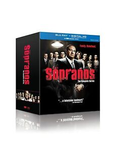 THE SOPRANOS COMPLETE SERIES Blu-ray US Region A 28-Disc Set 6 Season Damage Box