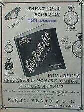 PUBLICITE OMEGA MONTRE BRACELET GOUSSET TACHYMETRE POUR AUTO DE 1909 FRENCH AD