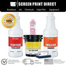 Plastisol Chemistry Kit for Screen Printing - Removers, Ink Degradent & more