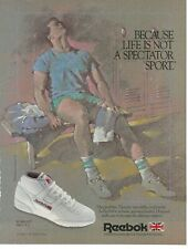 "Reebok Mid Cut Tennis Shoe 1985 1986 Original Print Ad 9 x 11"" Playboy Magazine"