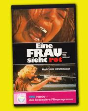 EINE FRAU SIEHT ROT Perry King VPS Mariel + Margaux Hemingway VHS Rache Drama