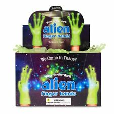 Archie McPhee Glow In The Dark Alien Finger Hands Perfect Gift For All Kids