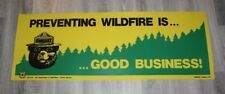 """US Forest Sevice  Plastic sign / Poster Banner  44"""" x 16""""  PREVENTING wildfires"""