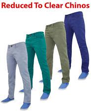 New Mens Designer Kushiro City Branded Heavy Twill Chino Slim Fit Pants Jeans