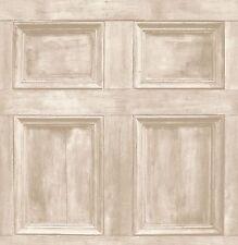 Light Rustic Wood Panel Effect Feature Wallpaper Fine Decor FD31054 Cream Beige
