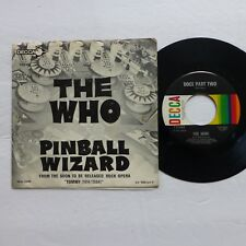 the WHO 45 Pinball Wizard / Dogs Part Two DECCA 1969 mod beat PIC SLEEVE  Ak553