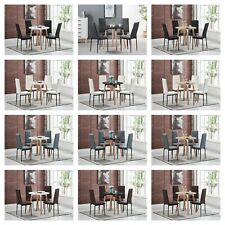 Bronx Dining Set - 4 x Bronx Dining Chairs &  Halo Round Wood Dining Table