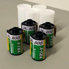 4 Roll Lot Fuji Fujifilm Super X-tra 800 Color Negative Film 24exp 35mm
