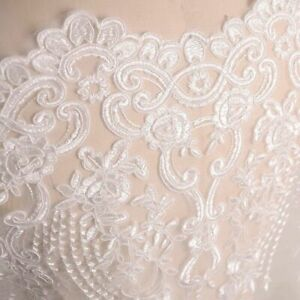 Lady Wedding Fabric Dress Bridal Embroidery Lace Mesh DIY Flower Sewing Crafts