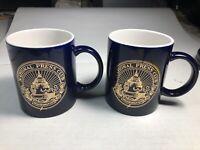"""National Press Club Washington DC 6.5"""" Tall Coffee Mugs Set of 2"""